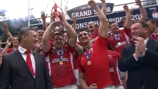 Wales celebrate winning the 2012 Six Nations
