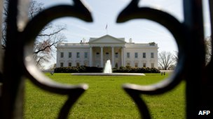 The White House as seen on 17 March 2010