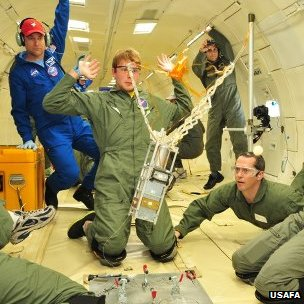 Testing on a zero-g flight