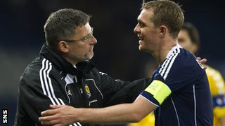 Scotland manager Craig Levein (left) and Darren Fletcher