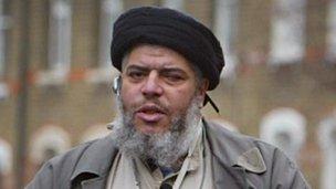 Terrorist suspect Abu Hamza