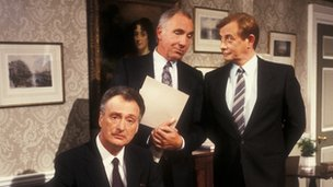 The cast of Yes Minister