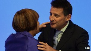 Tessa Jowell and Seb Coe
