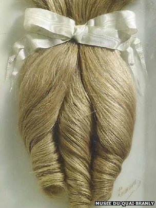 "Hair from ""Emma"" circa 1900"