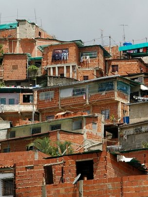 Venezuelan shanty town, or borrio