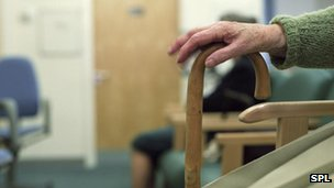 Elderly woman in a chair