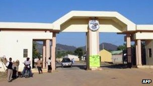 Entrance to the Federal Polytechnic Mubi (file photo)