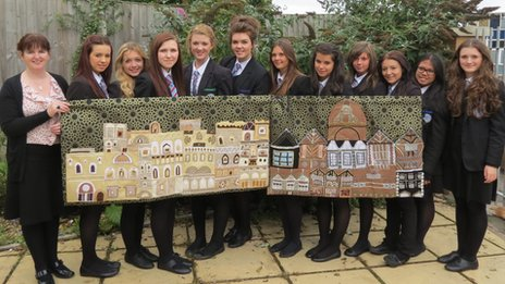 Upton-by-Chester pupils showcase their tapestry