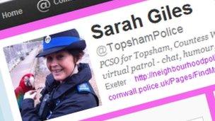 Sarah Giles Twitter page