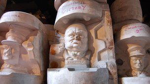 Winston Churchill pottery moulds