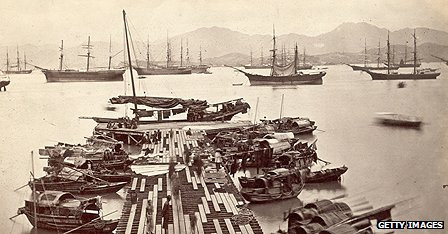 Hong Kong port circa 1890