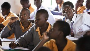 Schoolchildren in Africa