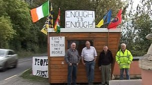 Vigil at Seamus Sherlock's home