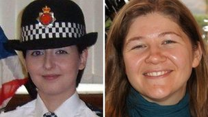 PCs Nicola Hughes and Fiona Bone