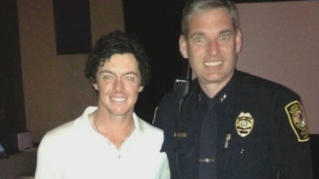 Rory McIlroy and Pat Rollins