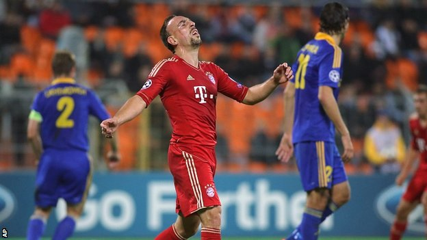 Franck Ribery shows his frustration