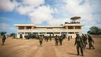 Kenyan soldiers serving with Amisom secure the airport in Kismayo, in this photo released by the African Union-United Nations Information Support Team.