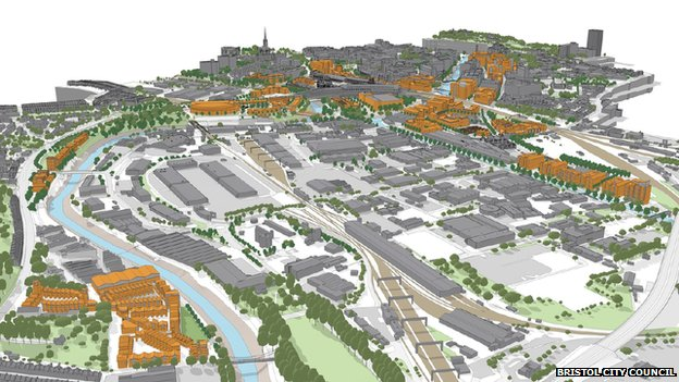 Artist's impression of Temple Meads Enterprise Zone