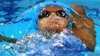 Darya Zevina of Ukraine competes in the women's 200 back-stroke