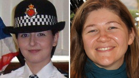 PC Nicola Hughes and PC Fiona Bone