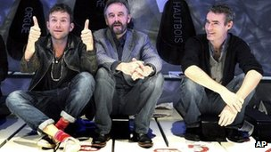 Damon Albarn, ENO director John  Berry and Rufus Norris