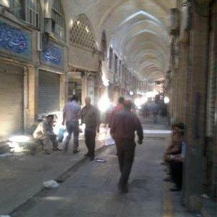 Tehran's central bazaar (3 October)