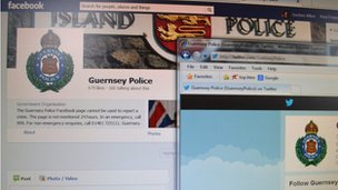 Guernsey Police's Facebook and Twitter pages