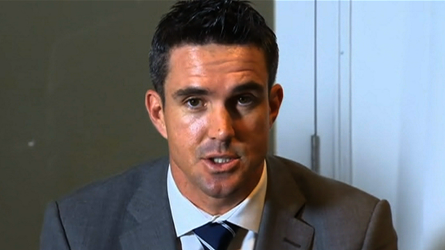 England batsmen Kevin Pietersen