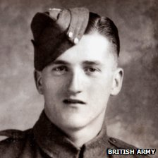 Private Lewis James Curtis. Pic: Army