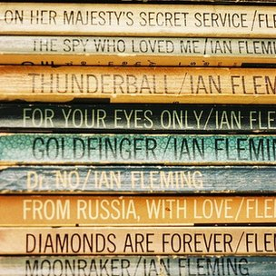 James Bond book spines