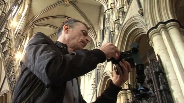 Photographer in Beverley Minster