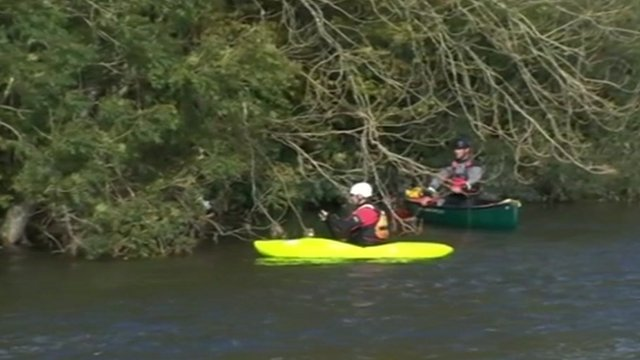 Kayaks on River Dyfi