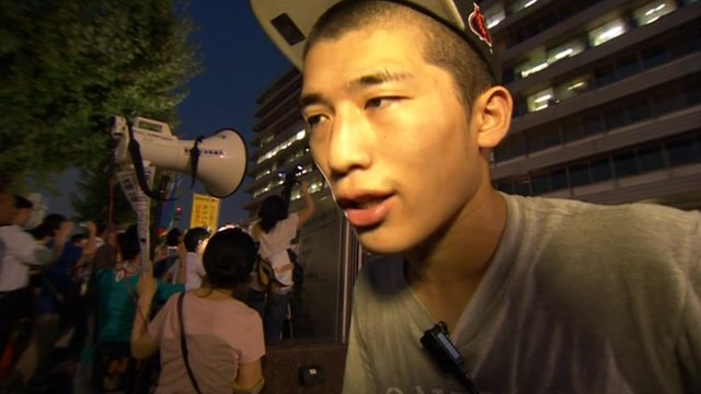 27-year-old protestor Taichi Hirano