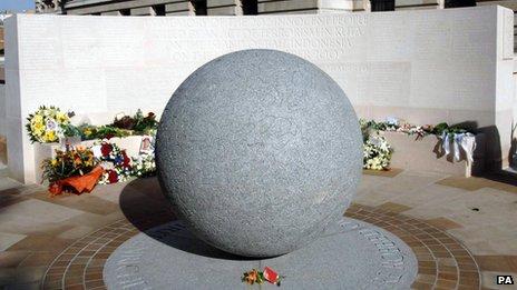 The Bali bomb memorial in London