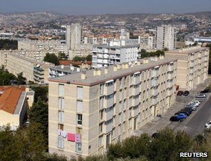An apartment block in northern Marseille (archive image)