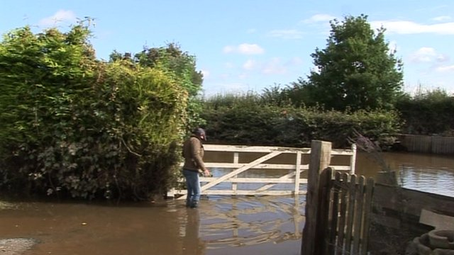 Flooding in Cawood, near Selby