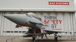 Euofighter jet made by BAE systems