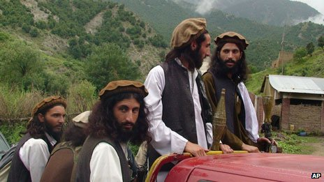 Taliban patrol in South Waziristan
