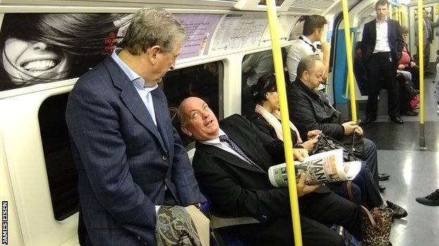 Roy Hodgson on the tube