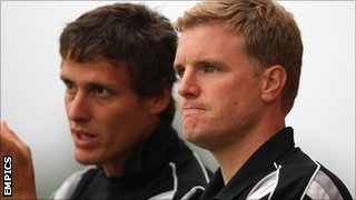 Jason Tindall and Eddie Howe