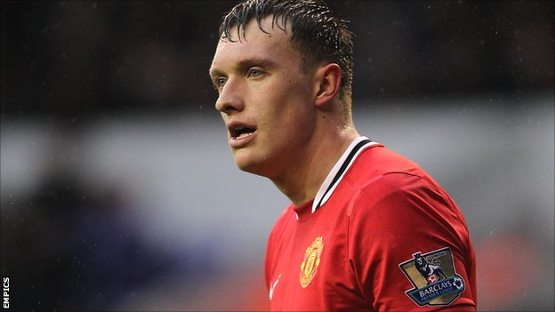 Manchester United midfielder Phil Jones