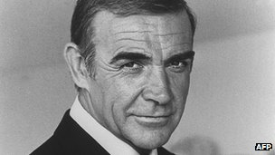 Actor Sean Connery in character as James Bond 