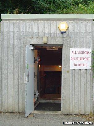 Entrance to the Raigmore bunker