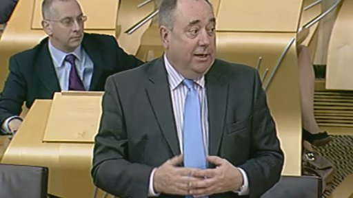 First Minister Alex Salmond