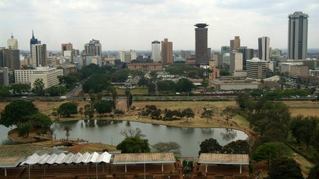 Skyline of Nairobi