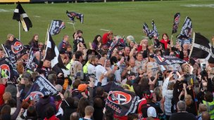 Cornish Pirates winning the British and Irish Cup in May 2010