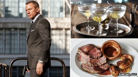 Daniel Craig as Bond in Skyfall, vodka martinis, and roast beef (Bond image copyright of 2012 Danjaq, LLC, United Artists Corporation, Columbia Pictures Industries)