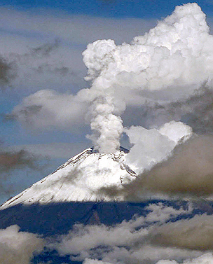 Popocatpetl volcano in Mexico