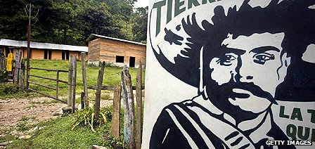 Mural depicting Emiliano Zapata