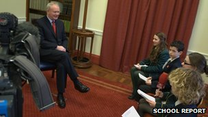 School Reporters interview Martin McGuinness